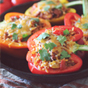 Chicken Fajita Stuffed Peppers (Crockpot or Oven)